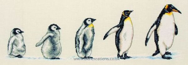 Penguins In A Row Cross Stitch Kit